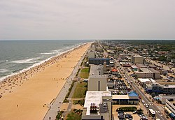 Aerial view of Virginia Beach