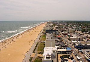 Rock 'n' Roll Virginia Beach Half Marathon - The course traces a path along the oceanfront boardwalk