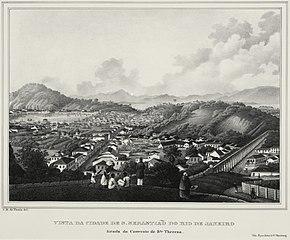 Vista da Cidade de S. Sebastião do Rio de Janeiro tirada do Convento de Sta. Thereza