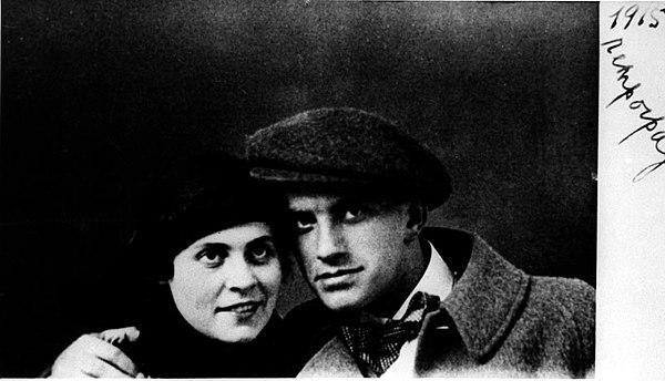 Lilya Brik and Vladimir Mayakovsky.