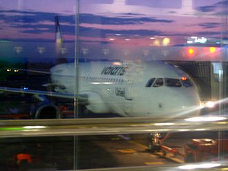 Del Bajío International Airport - Volaris Airbus A319 at the airport.