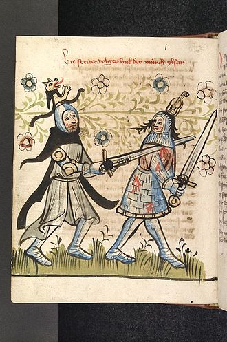 Alzey - Volker von Alzey (right) from Legends about Theodoric the Great