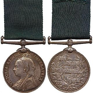 Volunteer Long Service Medal for India and the Colonies