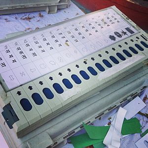 Elections in India - Voting machine demo