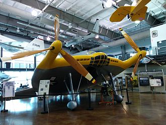 Frontiers of Flight Museum - Image: Vought V173 Front view