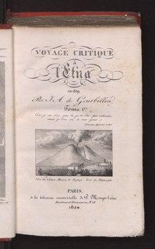Voyage critique à l'Etna en 1819. Da BEIC, biblioteca digitale