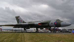 English: Avro Vulcan G-VLCN as XH558 on static...