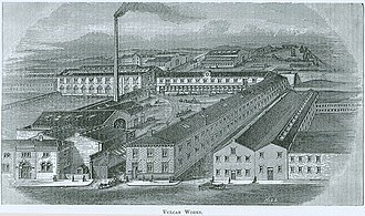 Vulcan Iron Works - Image: Vulcan Works Bradford lithograph Industries of Yorkshire ca 1888