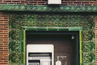 Purdue State Bank - detail of door surround
