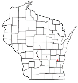 Location of Campbellsport, Wisconsin