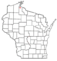 Location of Gingles, Wisconsin