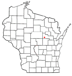 Location of Tigerton, Wisconsin