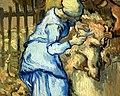 WLANL - Techdiva 1.0 - De schapenscheerster (naar Millet) (detail), Vincent van Gogh (1889.jpg