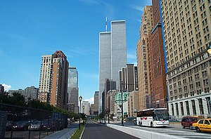 World Trade Center and surrounding buildings.