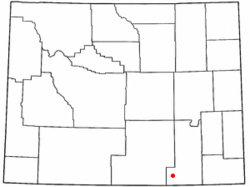 Location of Albany, Wyoming
