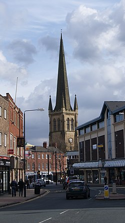 Wakefield Cathedral from Northgate