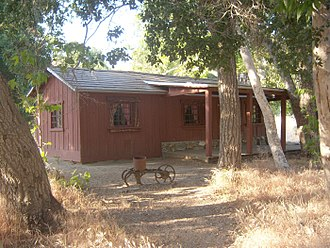 Placerita Canyon State Park - The restored Walker Cabin at Placerita Canyon State Park