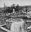 Image of a house destroyed by the Wallingford Tornado of 1878