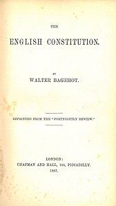 Walter Bagehot, The English Constitution (1st ed, 1867, title page).jpg