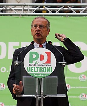 Walter Veltroni - Veltroni during the electoral campaign.