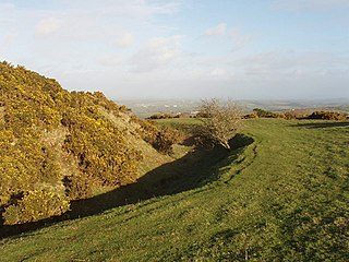 Warbstow Bury hillfort in Cornwall, England