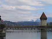 Wasserturm and Kapellbrücke - the town's two most famous landmarks