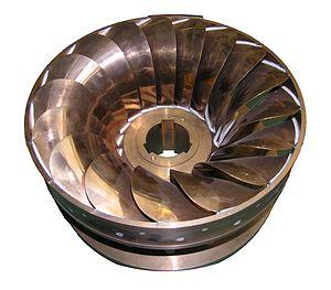 Water turbine - The runner of the small water turbine