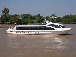 Water taxi - Water Bus in Tigre, Buenos Aires