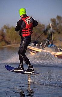 Foilboard surfboard using a hydrofoil