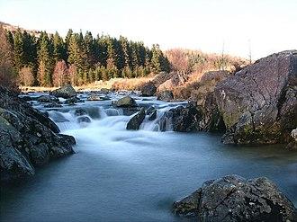 River Duddon - A small waterfall upstream of Birks Bridge