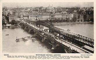 Waterloo Bridge - Waterloo Bridge, about 1925