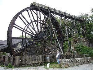 Morwellham Quay - Image: Waterwheel at Morwellham Quay