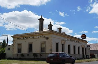 Waubra Town in Victoria, Australia