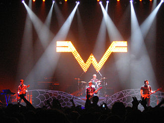 Weezer - The band performing in 2005