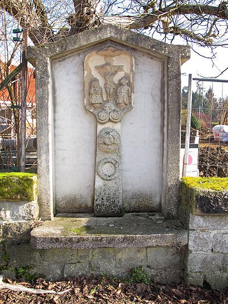 Wayside cross in Mamer, Luxembourg, rue Henri Kirpach