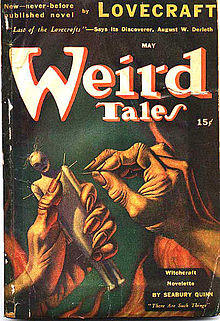 The first installment of The Case of Charles Dexter Ward was promoted with an outsized banner headline on the cover of Weird Tales