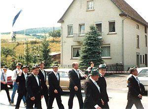 Balve Cave - Procession Schützenfest (1982)