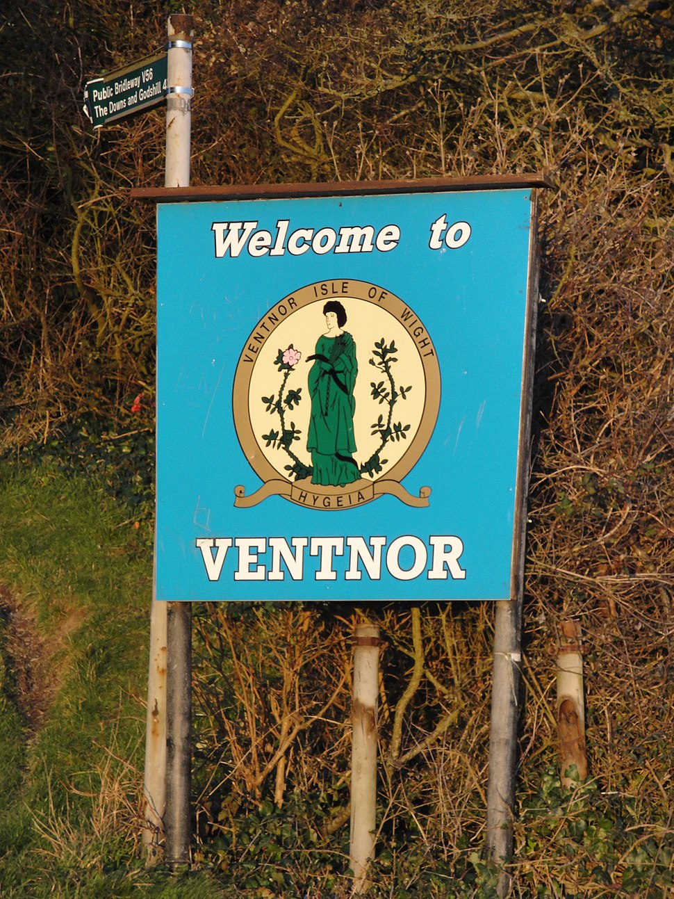 Welcome to Ventnor sign
