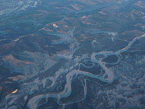 Tanana River - Image: West of Fairbanks aerial view P1040587