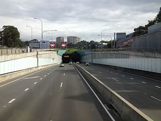 Lane Cove Tunnel - Westbound entrance and eastbound exit in Artarmon