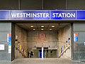 Westminster station entrance 2020.jpg