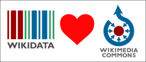 Wikidata loves Commons logo
