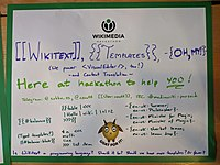 Wikimania 2019 Hackathon poster - Wikitext Templates Oh My.jpg
