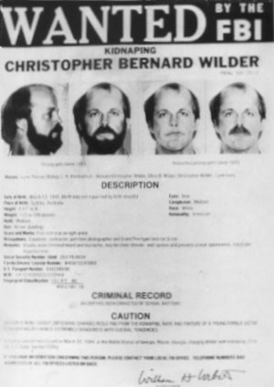 Christopher Wilder - FBI Wanted Poster for Wilder