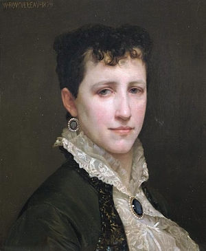 Elizabeth Jane Gardner - Portrait de Mademoiselle Elizabeth Gardner by William-Adolphe Bouguereau, 1879