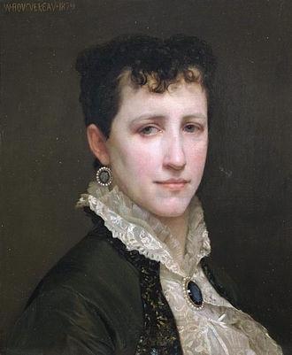 William-Adolphe Bouguereau - Portrait by Bouguereau of his wife Elizabeth Jane Gardner