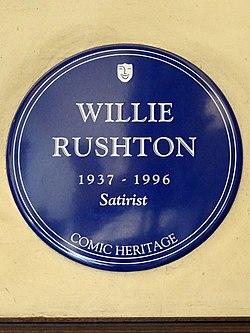 Willie rushton 1937 1996 satirist (comic heritage plaque)