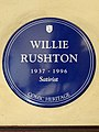 Willie Rushton 1937-1996 Satirist (Comic Heritage plaque).jpg