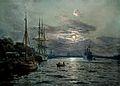 Willy Stöwer - Mondnacht im Hafen von Swinemünde.jpg