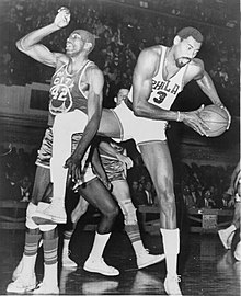 Chamberlain and Nate Thurmond of the San Francisco Warriors competing in  1966. 4298a419f